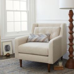 (Crosby Armchair - Solids | west elm)