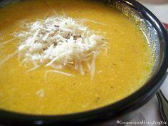 Roasted Garlic, Parmesan & Butternut Soup