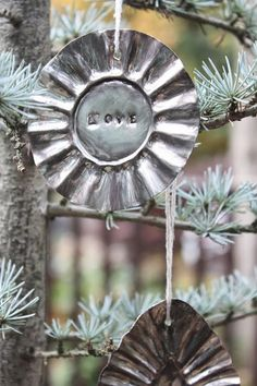 My Sweet Savannah: ~thrifty thursday~{ tart pan ornaments } Tutorial showing how to make these...Very easy...Love Them...