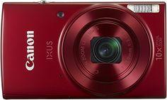 Canon IXUS 180 Digitalkamera (20 Megapixel, 10 x opt. Zoom, 4 x dig. Zoom, 6,8 cm (2,7 Zoll) LCD Display, WLAN, Bildstabilisator) rot Sensor: 20,2 Megapixel CCD-Sensor; Leistungsstarker DIGIC4+ Bildprozessor Objektiv: 10-fach optischer Zoom (24-240 mm äquiv. KB) Display: 6,8 cm (2,7 Zoll) LCD 720p-Movies; Optischer Bildstabilisator Lieferumfang: Canon Digitalkamera IXUS 180 rot, Handschlaufe WS-800, Akku NB-11L, Akkuladegerät CB-2LFE, Netzkabel, Bedienungsanleitung