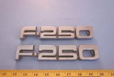 Ford F 250 Pickup Factory Fender Emblems