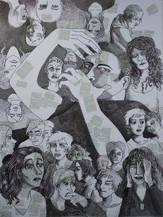 Herkkupurkki: taideteoscollague, drawing By: Satu Laaninen