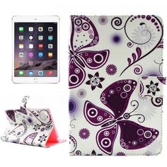 For iPad Mini 4 Painting Butterflies Love Flower Pattern TPU   PU Leather Case with Holder via WorlDixount Discount