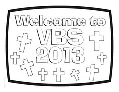 Check out our Welcome to VBS 2014 sign printable. You can