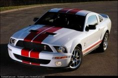 2008 Ford Shelby GT500 Red Stripe Package Updated Photos - http://sickestcars.com/2013/05/10/2008-ford-shelby-gt500-red-stripe-package-updated-photos-2/