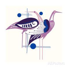 Deco Cranes Giclee Print at AllPosters.com