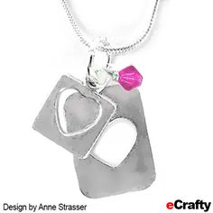 DIY Open Hearts Necklace ~ Simple Mother's Day Jewelry Recipe from eCrafty.com