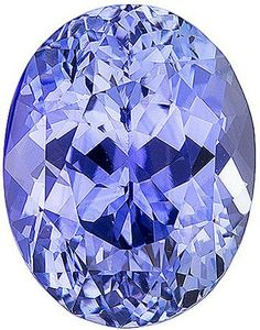 Attractive Bright Loose Blue Sapphire Gemstone, Periwinkle like Color  Oval Cut, 3.54 carats