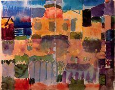 Garden in St. Germain, The European Quarter Near Tunis, Tunisia, 1914, by Paul Klee.