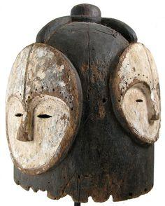 4 Faced Ngontang Helmet mask, Gabon. Photo credit: Ann Porteus