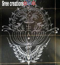 Sreelakshmi's rangoli Simple Rangoli Designs Images, Rangoli Designs Flower, Rangoli Patterns, Small Rangoli Design, Rangoli Ideas, Beautiful Rangoli Designs, Kolam Designs, Indian Rangoli, Kolam Rangoli