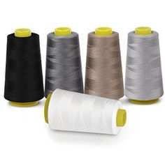 10x Spun polyester sewing thread overlock cottons heavy duty sewing shade-4 99