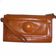 Hobo International Wallet Darma Leather Wristlet Organizer Clutch Yam Orange #HoboInternational #Wristlet