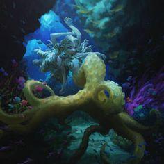 Mermay 2021 Art Feature! by Acaciathorn on DeviantArt Iris, Mermaid Artwork, Cg Art, Visual Development, Environmental Art, Art Studies, Various Artists, Sea Creatures, Fantasy Characters