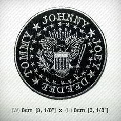 RAMONES Embroidered Iron on Patch 8 x 8 cm by JoeSure on Etsy