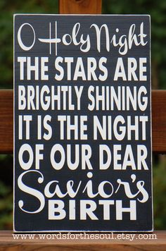 Oh O Holy Night Christmas Sign