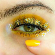 makeup yellow & makeup yellow ` makeup yellow dress ` makeup yellow eyeshadow ` makeup yellow outfit ` makeup yellow morenas ` makeup yellow aesthetic ` makeup yellow and orange ` makeup yellow and pink Makeup Eye Looks, Eye Makeup Art, Eye Makeup Remover, Cute Makeup, Makeup Inspo, Eyeshadow Makeup, Hooded Eye Makeup, Makeup Kit, Glitter Eyeshadow