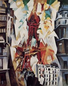 Robert Delaunay (French 1885–1941), Eiffel Tower, 1909-1914. [Orphism]