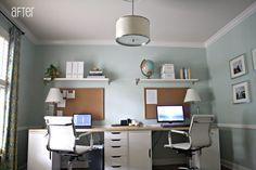 Excellent Two Desk Home Office Design Bedroom Home Office Desks Two Desk Small Office Two Person Computer Desk Home Office. Two Desk Office. Office Decor. Two Tier Office Desk. Two Desk Home Office Design. #6011