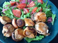 Grilled mushrooms with cold smoked salmon and fresh cheese Grilled Mushrooms, Stuffed Mushrooms, Smoked Salmon, Sprouts, Grilling, Cheese, Cold, Fresh, Meat