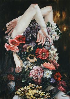 """flowartstation: """" Mysterious floral portraits by Meghan Howland Meghan Howland is an artist from Massachusetts currently working and living in Portland, Maine. Meghan's portraits breathe mystery:. Art Fauvisme, Art Beat, Art Et Illustration, Landscape Illustration, Foto Art, Surreal Art, Art Plastique, Trippy, Collage Art"""
