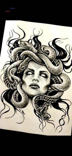 26 Super ideas for art tattoo desenho Medusa Tattoo Design, Tattoo Designs, Thigh Tattoos, New Tattoos, Girl Tattoos, Tatoos, Cat Tattoo, Tattoo Drawings, Medusa Art