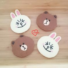 Loving Creations for You: Brown and Cony Chocolate and Vanilla Shortbread Co...