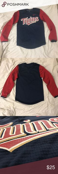 Nike Minnesota Twins thermal longsleeve shirt Stylish baseball long sleeve shirt. Material similar to NIKE PRO. Very warm you Will stay warm.   Shipped same day or next day depending on time of purchase.  -New items PRICES ARE FIRM. Offers will be considered for used items through the offer button ONLY. -All NIKE products are directly from NIKE. 100% Authentic. -Bundle items to save More ‼️ Nike Shirts Tees - Long Sleeve
