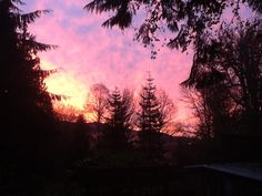 Beautiful sunrise over Acme, WA