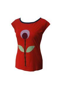 "Iza Fabian - LONGSHIRT "" RETRO RED 1 ""   von Iza Fabian Design  auf DaWanda.com"