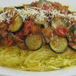Spaghetti Squash Tomato Toss