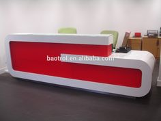 Customized modern office reception desk counter design