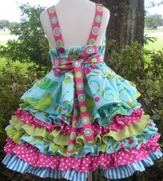 Items similar to Pretty Bird Fabric Custom Order Nie Nie Set Girl 2 3 4 5 6 on Etsy Back view Nie Nie Set by Cute Girl Outfits, Cute Outfits For Kids, Baby Girl Dresses, Pink Love, Hot Pink, Bird Fabric, Sundress Pattern, Kids Frocks, Children's Boutique