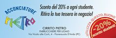 Da Pietro Acconciature gli studenti hanno il 20% di sconto! Per altre offerte: www.ibuonidelborgo.it  #sconti #coupon #omaggio