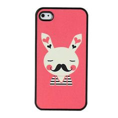 Case Mustache Rabbit para iPhone 4/4S
