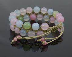 Handmade Jewelry, Unique Jewelry, Handmade Gifts, Macrame Dress, Micro Macrame, Bead Jewellery, Macrame Bracelets, Adjustable Bracelet, Agate