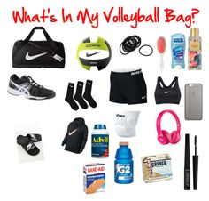 """Stuff In My Volleyball Bag♥️"" by presleyrae5 on Polyvore featuring NIKE, Mason Pearson, Victoria's Secret, Asics, Native Union and e.l.f."
