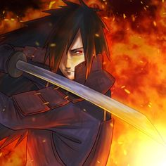 Uchiha Madara =3 Fire...Blade...Kawaiii :3 <3