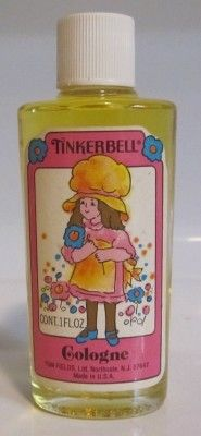 Tinkerbell perfume...loved getting this at the dept. store.  Sometimes would get the polish and powder too :)