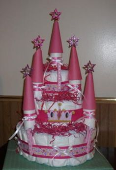 torte di pannolini castello