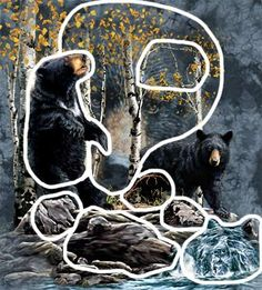 Hidden 9 bears images by Stephen Michael Gardner will expand your mind and balance your brain hemispheres.