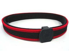 """Big Dragon IPSC Special Shooting Belt Red by Big Dragon. $39.99. FEATURES: IPSC Special Shooting Belt made by reinforced nylon. Great for IPSC Sporting usage. Competition width 1.5"""", to fit with all shooting gear used. Attach holster & magazine pouch securely and without jogging of moving as you run and jump. Special design 2-belt systems. An inner belt that is worn through the pant loops, and a outer belt that attaches to the inner belt with Velcro. 2-belt system also pre..."""