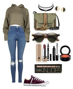 """""""Untitled #57"""" by dradu450 ❤ liked on Polyvore featuring Topshop, Converse, L'Autre Chose, ZeroUV, Marc Jacobs, Yves Saint Laurent, MAC Cosmetics, Charlotte Russe and Chanel"""