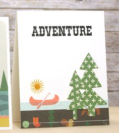 Hello! Courtney here today and I am sharing an outdoor adventure card set created with The Wild Life Collection. So that the cards would have a similar theme I used the 'Adventure' sentiment stamp from the Adventure Time 4x6 Stamp Set for both and featured a canoe element on each...Get the collection, stamps and dies at www.craftysteals.com