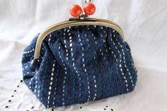 Simple sashiko on a little purse by Michiko Oba of Fukuoka, Japan. Her…