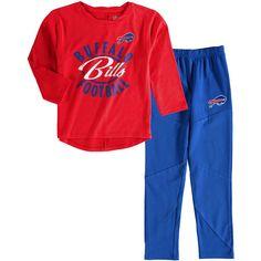 Buffalo Bills Girl's Preschool Fan Gear Fan Gear Football Sweetheart Long Sleeve T-Shirt and Pant Set - Red - $35.99