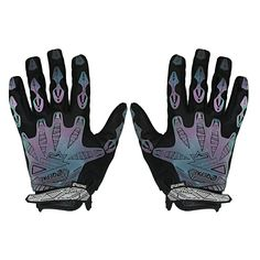 Cycling Gloves Padded Full Finger Reflective Mountain Bike Mittens Black M >>> You can get more details by clicking on the image.