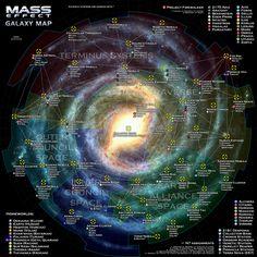 Mass Effect Galaxy Map by otvert.deviantart.com on @deviantART