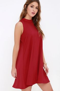 Sway Time Wine Red Swing Dress at Lulus.com!