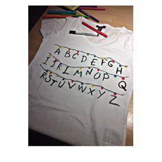 Stranger things t-shirt❤️ #strangerthings #tshirt #diy #creative